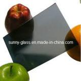 Rose en bronze de vert de gris bleu teinté en verre