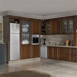 Amerikanischer Kirschahornholz-festes Holz-Küche-Schrank mit Rom-Pfosten