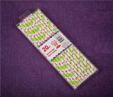 Rosa Jingli pajitas de papel pajitas de parte de las Partes de productos con caja de PVC