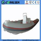 Hypalon/PVC/FRP rígido de alta velocidad de bote inflable rígido Rib