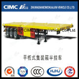 40FT 3axle Flatbed Carrying Container Semi Trailer