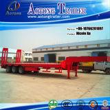 China Manufactur 3/4/5 Wellen 50/80/100 Tonnen schwerer Maschinen-Transport-niedrige flaches Bett-halb LKW-Schlussteil-für heißen Verkauf