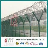 Aeroporto saldato curvo della rete metallica che recinta/rete fissa saldata dell'aeroporto della rete metallica