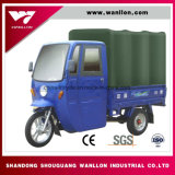 Venta de Fábrica Moderna Rackshaw refrigerado por agua Trike Motor del techo de lona
