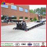 del cuello de cisne 3axles de Lowbed del cargamento delantero del carro acoplado hidráulico desmontable semi