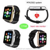 Telefone do relógio de Bluetooth com o monitor da frequência cardíaca