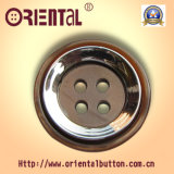 4 fori Coffee con Shiny Silver Plated Combination Button