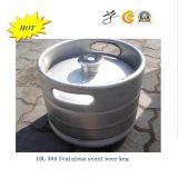 304 barris de cerveja do aço inoxidável no recipiente