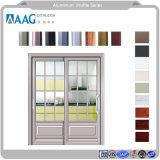 Perfil de aluminio para el proyecto de la puerta de cristal templado con diseño a la plancha de vidrio de 5mm deslizante de la Cruz de la puerta de la ventana de PVC