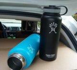 hidro garrafa de água isolada da garrafa do aço inoxidável da isolação 40oz garrafa hidro com boca larga