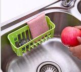 Bac multifonctionnel de rangement pour évier de cuisine Ensemble de lavage créatif pour éponge et éponge