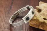 Hochwertiges Form-Edelstahl-Ineinander greifen-Schmucksache-Armband