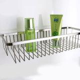 Acessórios de banheiro Single Chrome Rectangular Sanitary Wire Bath Rack