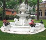 Fontana di acqua di marmo bianca con la Camera per la decorazione domestica del giardino