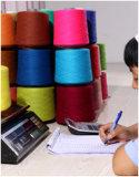 Le cachemire mélangé avec des fils de soie, laine, coton ou en Tencel etc 13nm à 60 nm