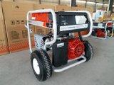 générateur lourd d'essence de l'essence 7.5kw avec les grands roues 2X et traitement pneumatiques, avec le télélancement
