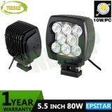 80W 5.5inch IP67 Offroad 작동 램프 LED 일 빛