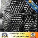 Tubo saldato nero a basso tenore di carbonio dell'acciaio ERW di ASTM A53 gr. B