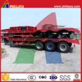 Tri-Eje 40-50tons gota cubierta camión cama baja Semirremolque