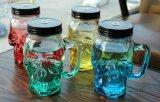 空のガラス製品の頭骨のガラス容器のガラスビン