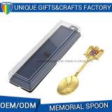 Cucchiaio personalizzato del metallo del ricordo di modo con la casella su ordinazione