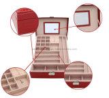 Коробка ювелирных изделий кожи украшения перемещения