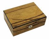 Casella di legno dell'accumulazione di vigilanza di rivestimento lucido della noce