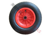 Для тяжелого режима работы Wheelbarrow пневматические резиновые колеса давление воздуха в шинах 4.00-8