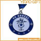締縄または締縄(YB-m-008)が付いている高品質の金属のスポーツメダル