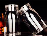 frasco transparente do vidro de frasco 400ml claramente de vidro