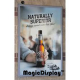 L'Illumination SNAP Frame vin Boîte à lumière de la publicité