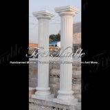 Colonna bianca di Carrara per la decorazione domestica Mcol-161