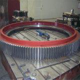 공 선반과 시멘트 가마를 위한 직경 6m 주기어 변죽