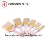 Деревянная щетка краски ручки (HYW0424)