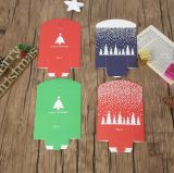 Caixa de presente extravagante do papel do Natal da impressão, caixa de empacotamento do presente de papel da dobradura, caixa dos doces do Natal