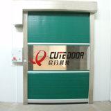 PVC plegable la puerta de alta velocidad de la persiana rápidamente enrrollable de la hoja
