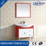 PVC шкафа ванной комнаты размера красной и белой стойки пола малый