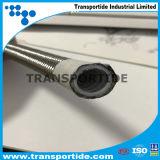"""Boyau d'acier inoxydable de teflon de PTFE de SAE100 R14 3/8 """" avec la qualité"""