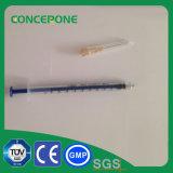 seringa do fechamento de 1ml Luer com a agulha para o uso médico