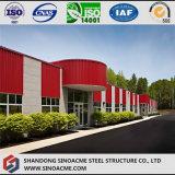 Construction de gestion pré conçue de structure métallique avec le balcon