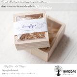 Hongdao Cheap Handmade Vintage Sacs de thé en bois de l'emballage Boîte de rangement avec plateau en verre _E