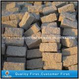 Lastricatori del Cobblestone del granito dell'oro di tramonto G682/del calcestruzzo pietra per lastricati