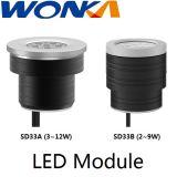 Projecteur changeable réglable d'angle de faisceau de pouvoir d'éclairage de module de DEL