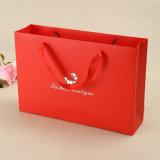 Prata do logotipo que carimba sacos de papel personalizados do presente para a compra/promoção