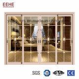 Vidro corrediço de alumínio Design da porta do painel da tela