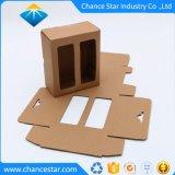 Pack plat personnalisé papier kraft brun Fenêtre Boîte en carton ondulé