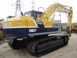 Excavador usado Sk07 de la correa eslabonada de Kobelco con el martillo de Gato original de Japón
