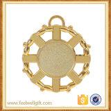 Più nuovo ferro di placcatura del bronzo dell'argento dell'oro che lancia le medaglie in bianco dell'inserto