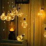 Fio de cobre de Flash estrela colorida lâmpada LED para férias de Natal