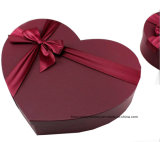 Chocolate Corazón Caja de cartón de papel Diseño de embalaje de regalo Caja con tapa